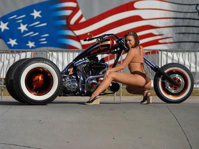 American Chopper And Sexy Girl Desktop