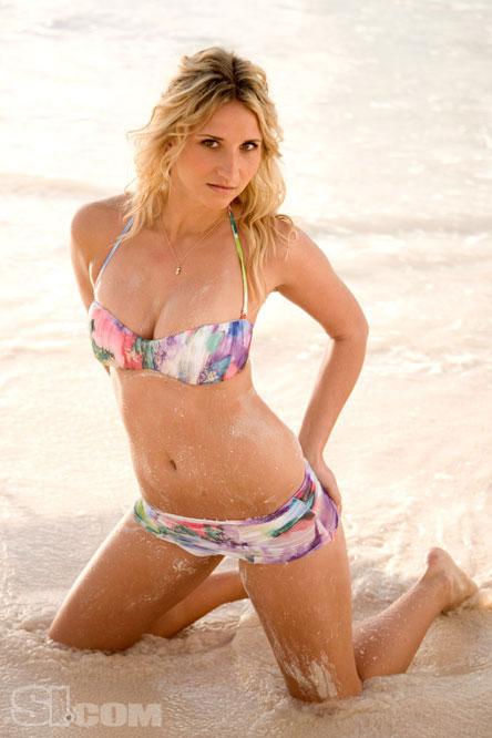Tatiana Golovin in Blue Bikini