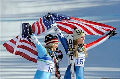 Lindsay vonn with US Flag