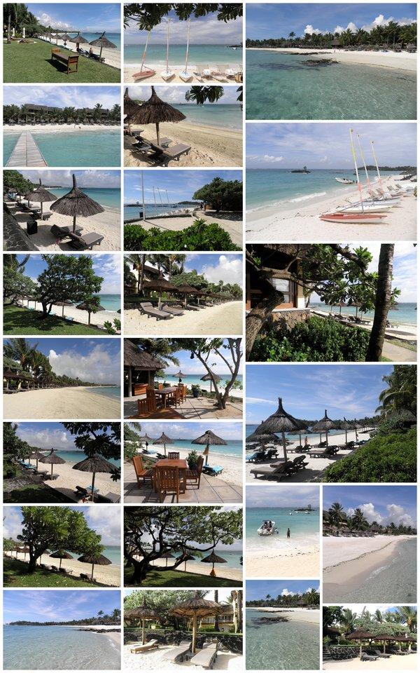 Lagon et plage de l'hôtel Constance Belle Mare Plage