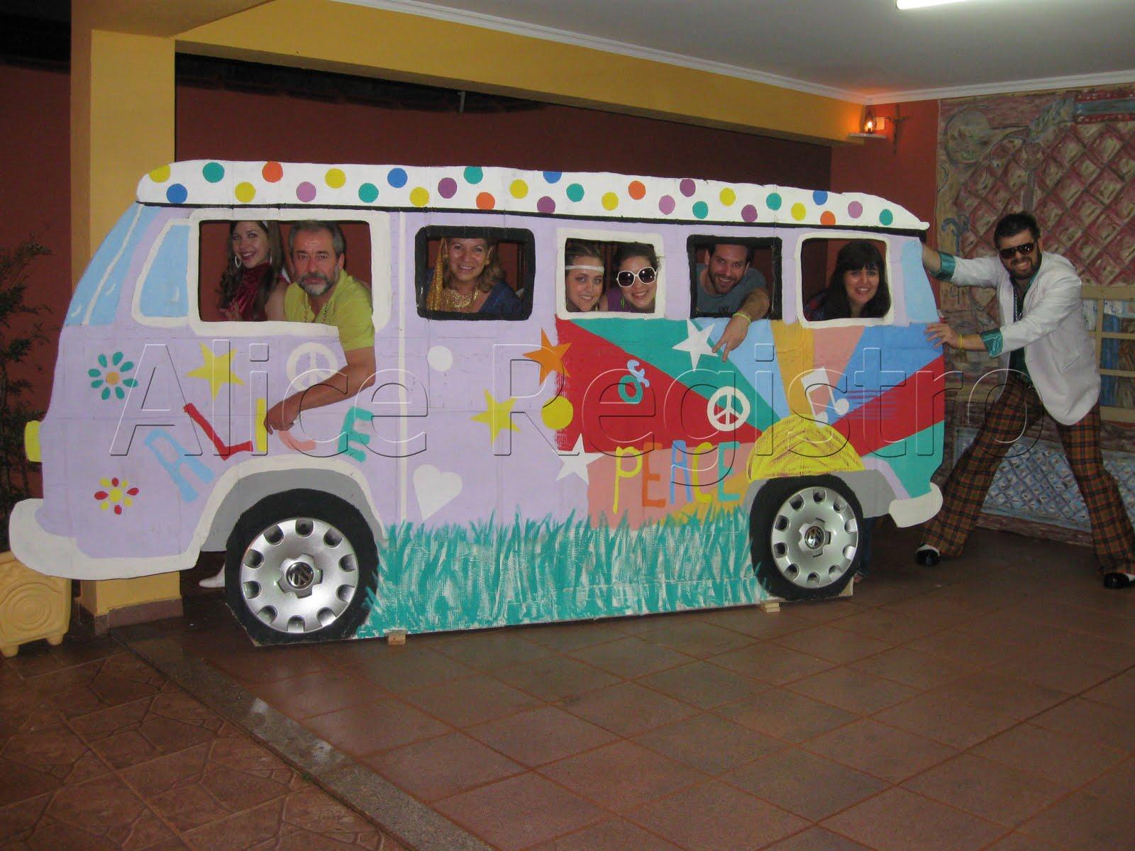 Enfeite De Kombi ~ Alice Registro Artes Festa Anos 70