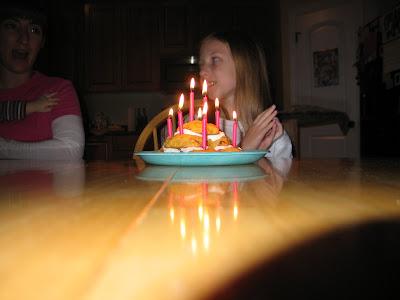 Mandi and her birthday 'cake'