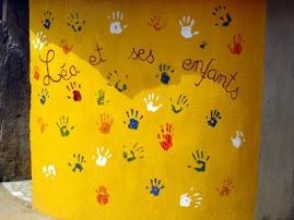 Fresque réalisée par les enfants avec les scouts