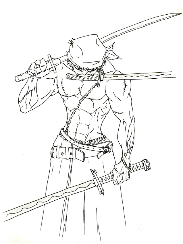 Le blog de keerian roronoa zorro - Coloriage one peace ...