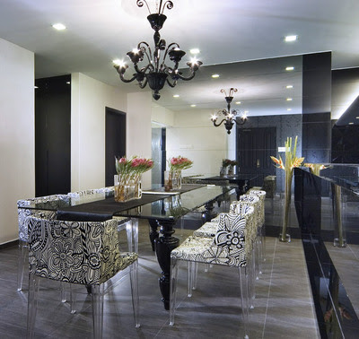 Sparkle interior design for Contemporary dining room ideas