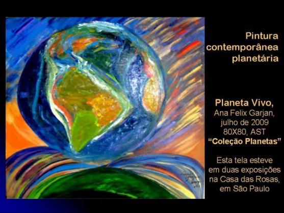 Planeta Vivo, pintura de Ana Felix Garjan