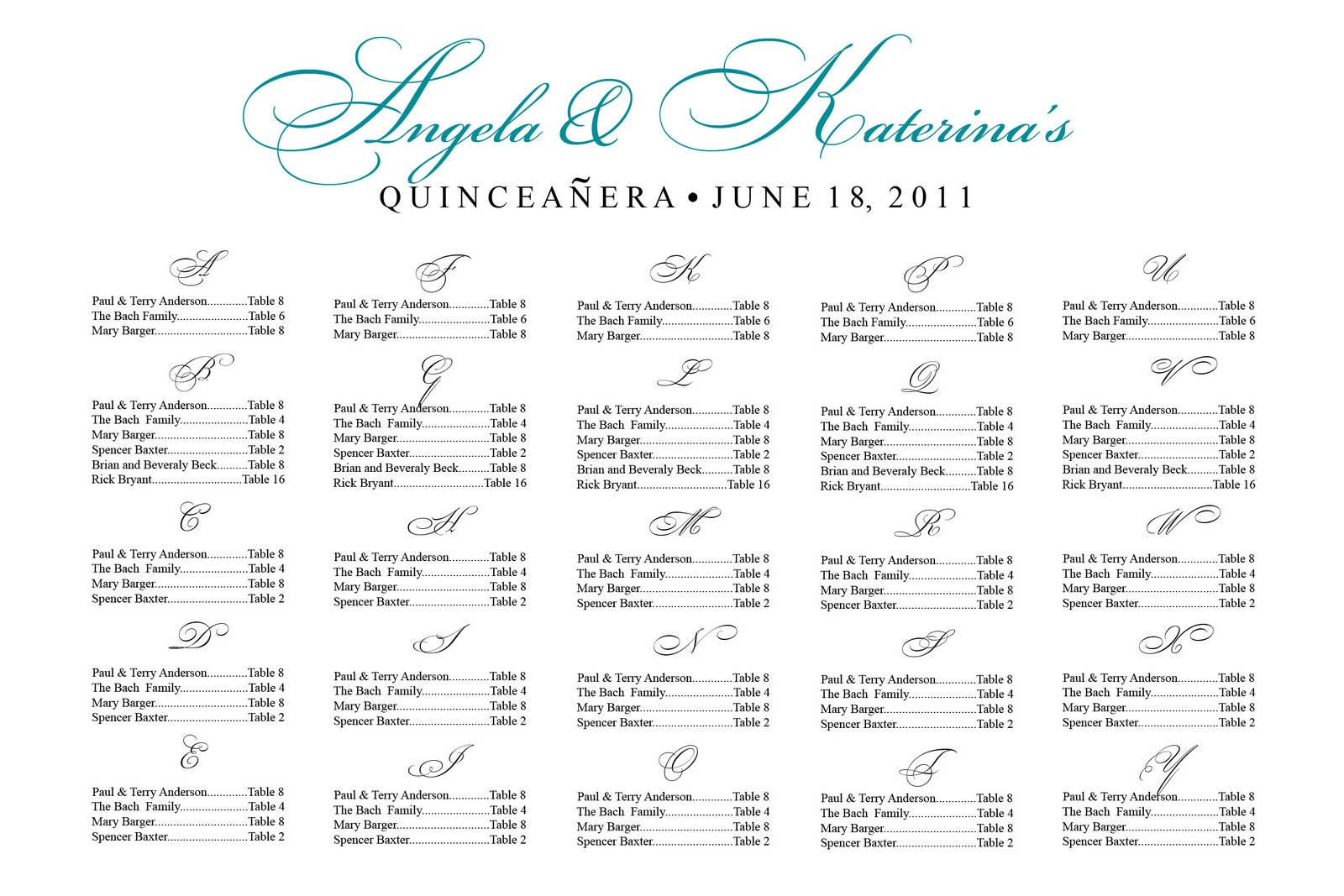 Free Seating Chart Template - Event seating chart template