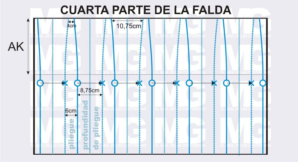 el pliegue de 6cm se reduce a 4 cm y la profundidad de de 8 75cm a 10