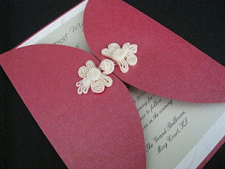 oriental knot wedding invitation