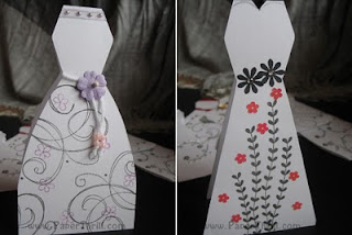 Handmade white dress cards