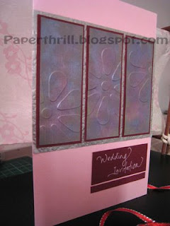 Pretty in pink wedding card