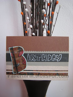 Just lines birthday card