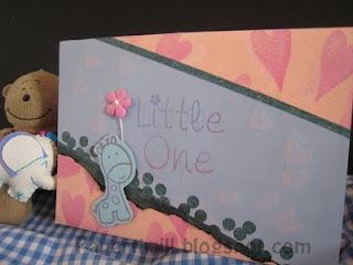 Baby giraffe newborn card
