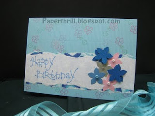Floral scatters birthday card