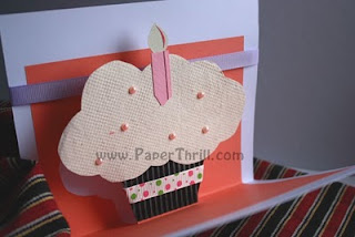 Cupcake popup birthday card