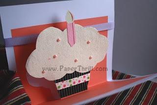 Cupcake popup birthday card