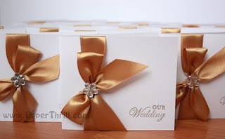 Gold wedding invitation card