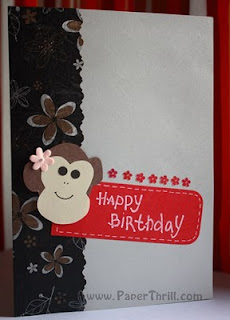 Magic Monkey popup card