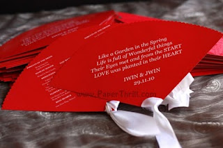 Wedding favour oriental fan