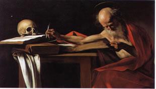 Caravaggio's Corner: San Gerolamo scrivente