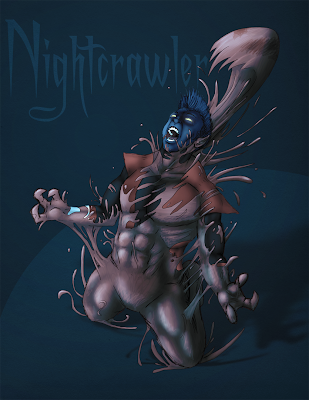 Somewhere Fast: Nightcrawler + symbiote!