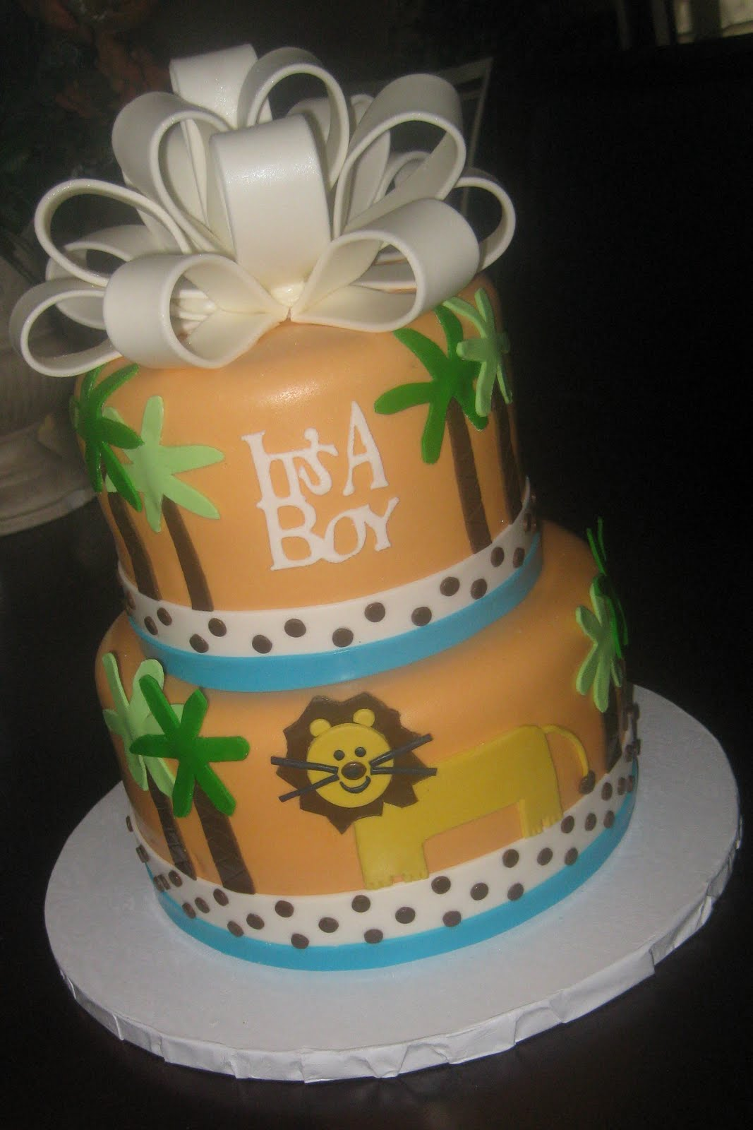 your fondant cake design destination king of the jungle baby shower