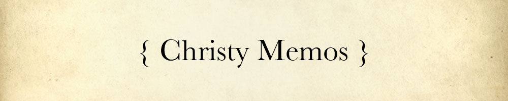 Christy Memos