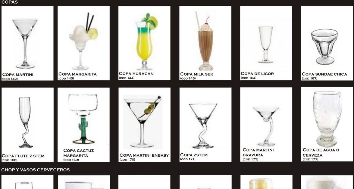 Productos de cocteleria algunas de nuestras copas for Copas y vasos para bar