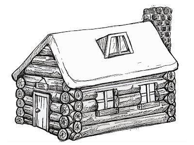 N birch0710 dp log cabin Cabin drawings