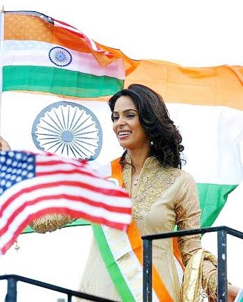 Mallika Sherawat New Jersy Pics - Indain Independence day celebrations