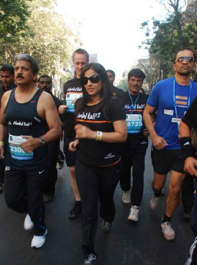at Mumbai Marathon 2011 -