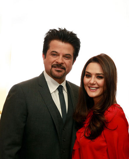 Preity Zinta, Anil Kapoor at IIFA 2011 Toronto Launch