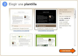 elegir plantilla, imagen de plantillas estandart de blogger