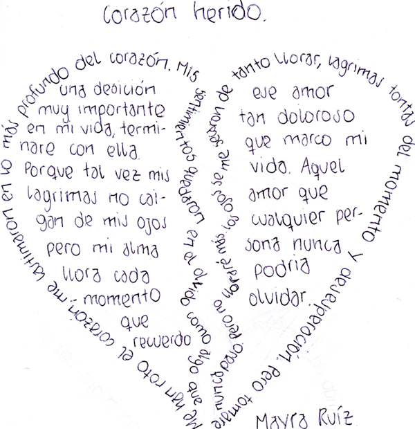 Caligramas Poemas De Amor