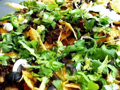 como hacer nachos con queso