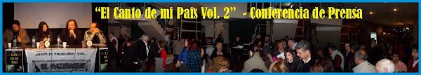"""Presentacion del CD """"El Canto de mi Pais Vol. 2""""  21/08/09"""