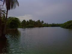 Laguna en el Estado de Guerrero, México