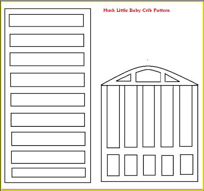 Fondant Baby Crib Template http://sugarteachers.blogspot.com/2009/02/hush-little-baby-crib-cake.html