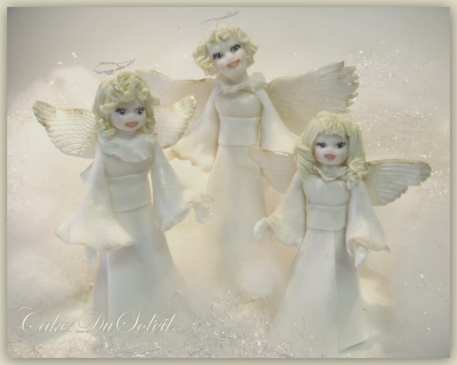 cakesdusoleil: O Holy Night- A Christmas Angel Trio Tutorial