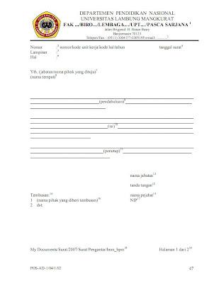 tata cara pembuatan surat pengantar 1 untuk kepala surat di lingkungan ...