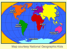 Free Technology For Teachers Ten Interactive Geography Games And Maps - Basic world map