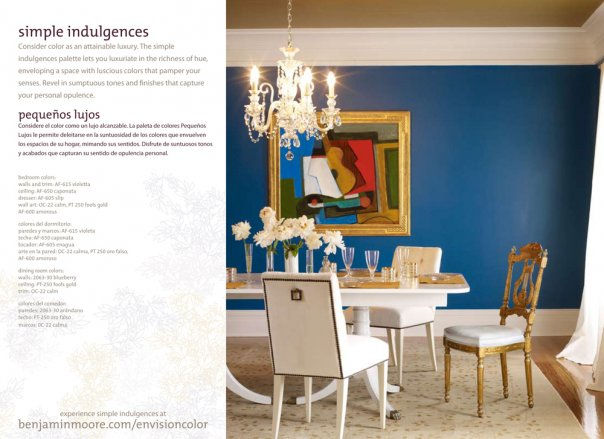 Decor - For once I like color, this blue pops