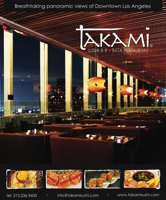 Everything delish takami sushi robata restaurant for Bar food 12217 wilshire blvd los angeles ca 90025