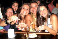 eu, Anita, Tosini, Mari e Rafaela na Nuth