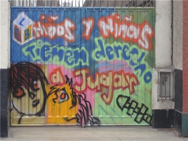 Art culos infantiles graffitis derecho a jugar for Graffitis para ninos