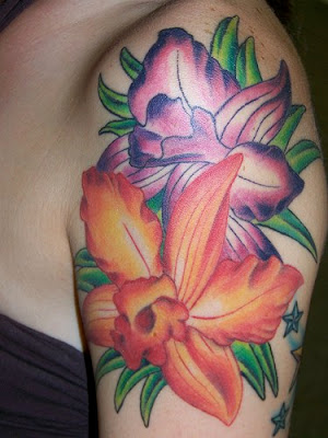 Label: Flower Tattoo Design On Side Hand