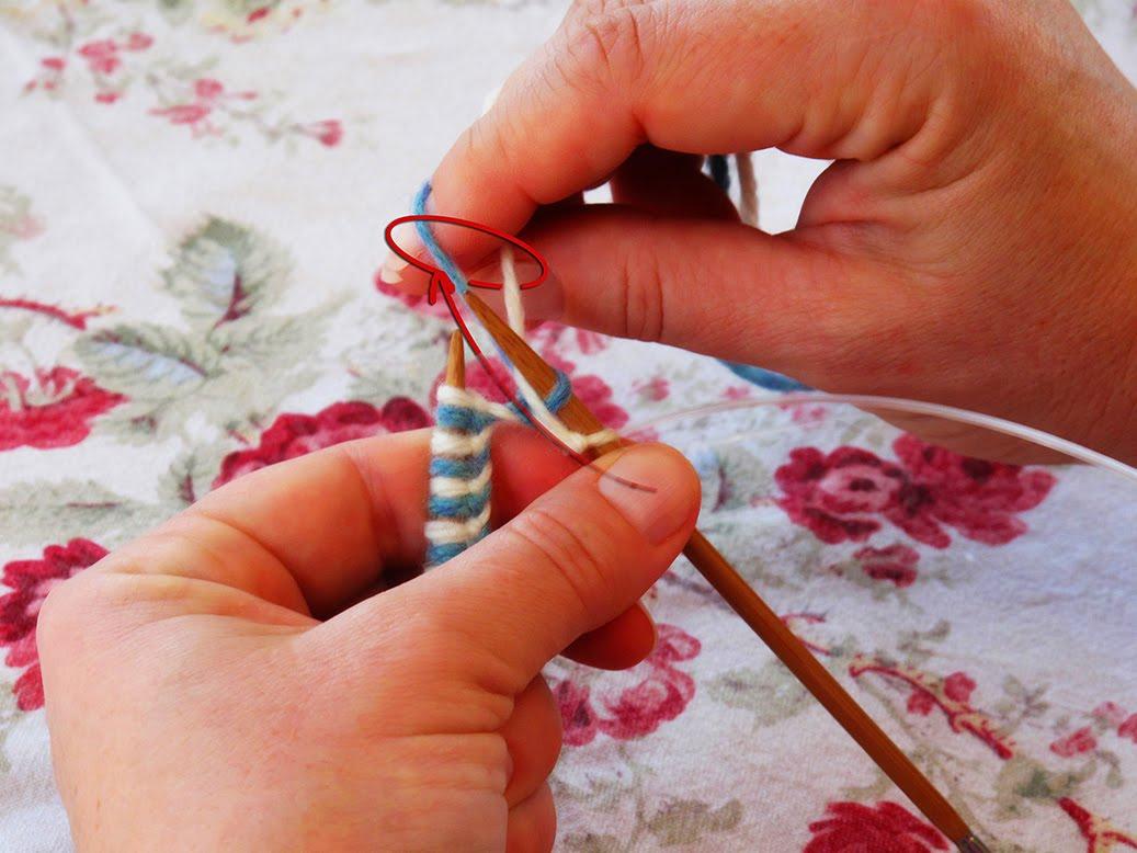 Вязание двумя нитками