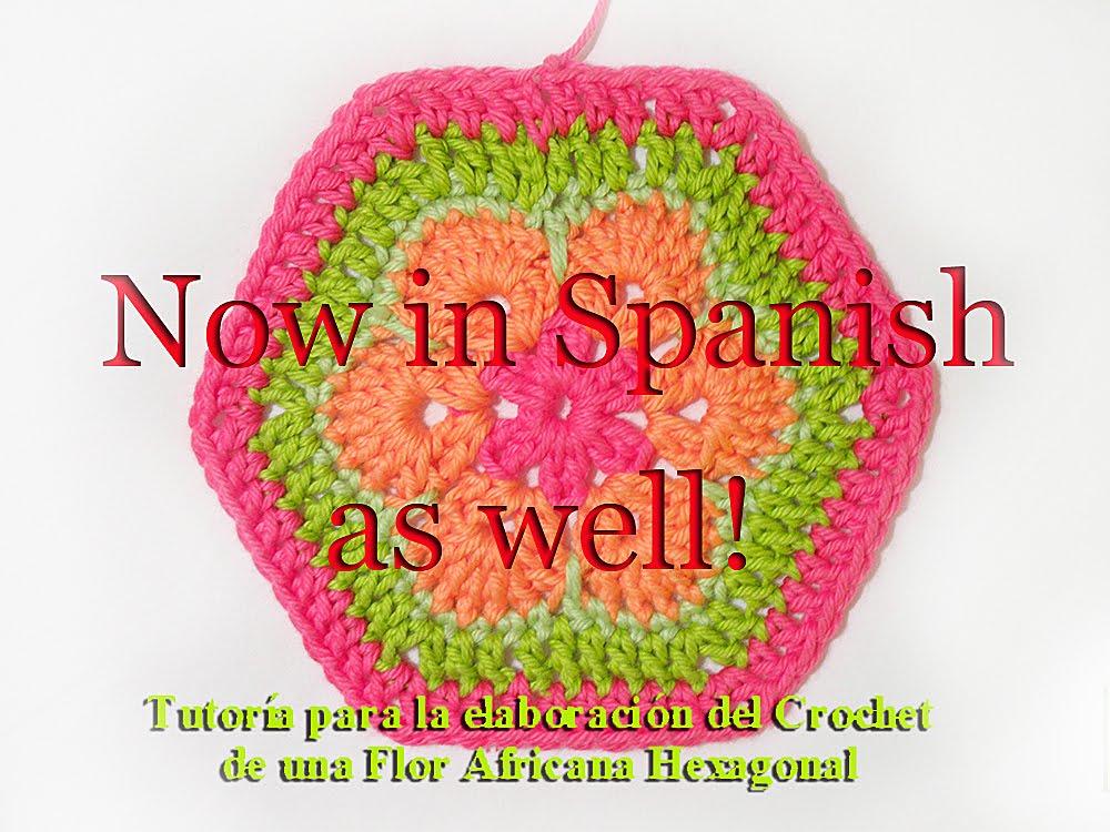Heidi Bears: African Flower Hexagon Crochet Tutorial now in Spanish