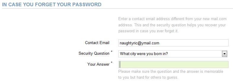 Contact Email : Masukkan email lain sobat, contoh email sobat di yahoo