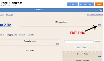 edit the gadget for adsense banner on header